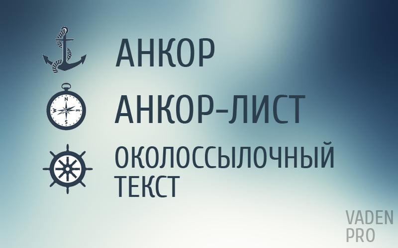 понятия анкор, анкор-лист, околоссылочный текст