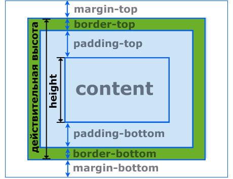 Высота блочного элемента CSS