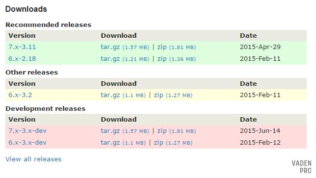 Drupal download