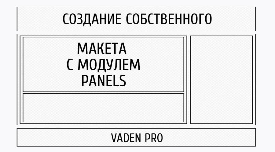Создание макета страницы-панелей с модулем Panels