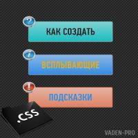 Всплывающие подсказки CSS