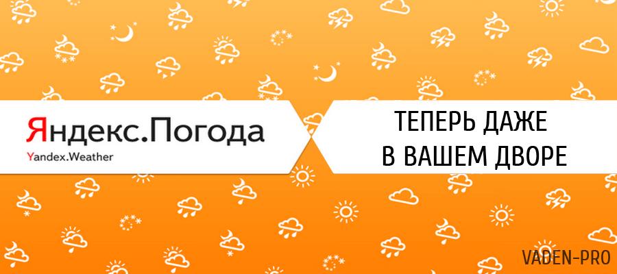 Яндекс погода в вашем дворе
